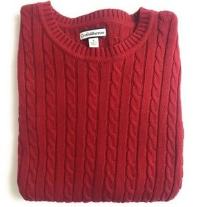 Croft & Barrow Women's Red Cable Knit Sweater, S